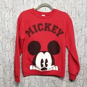 Mikey Mouse red crew neck sweatshirt